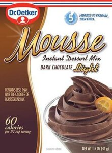 Dark Chocolate – Mousse Suprème Light by Dr. Oetker